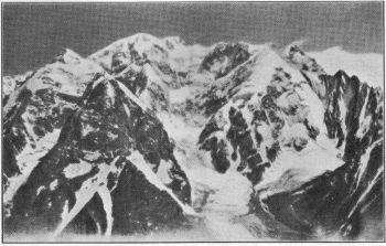 Tirich Mir, 25,237 feet, from the North. (Photo. E.R. Culverwell.)
