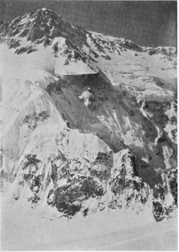 Kangbachen Peak and N.W. Ridge from Ramthang Route. (Photo. E. Schneider).