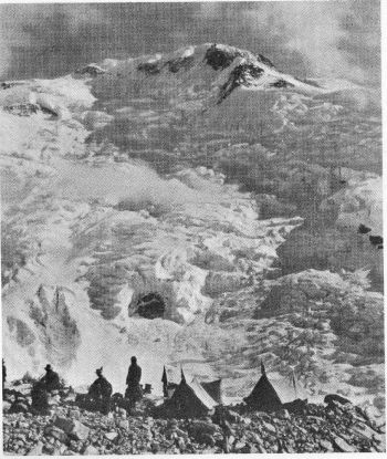 N. E. FACE OF JONSONG PEAK FROM CAMP I (Photo.H.Hoerlin.)
