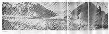 CHONG KUMDAN GLACIER SURFACE AND LAKE FROM RIGHT BANK SHYOK VALLEY. Photo. Capt.C.E.C.GREGORY.