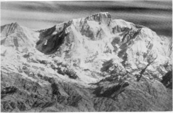Kedarnath, 22,770 feet. Infra-red photograph from a distance of 69 miles Photo.  C.E.C. Gregory