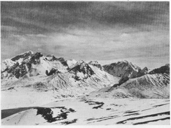 Pauhunri massif and Donkhya La from E. slopes of Lachi Hill. Tso Lhamo in left foreground, 31 st Oct. 1934