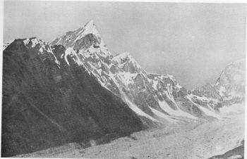 'Shark's Tooth' (21,000 feet) above the Changabang glacier, 20th September 1936