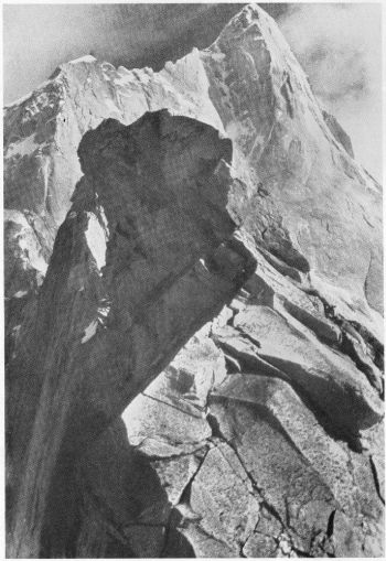 Changabang (22,520 feet), from the col at the head of the Changabang glacier, 27th September 1936