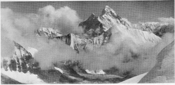 Nanda Devi (25,645 feet) from the Bagini pass (20,100 feet), 11th October 1936