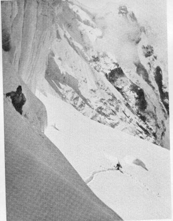 The difficult approach to Camp IV, 4th October 1936