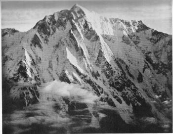 The 15,000-foot southern face of Nanga Parbat from the air. 16th June 1938