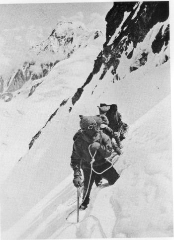 The traverse of Rakhiot peak, between Camps V and VI, 22nd July 1938