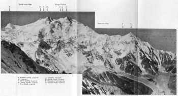 Nanga Parbat and Ganalo Peak from buldar Peak. 13th July 1938