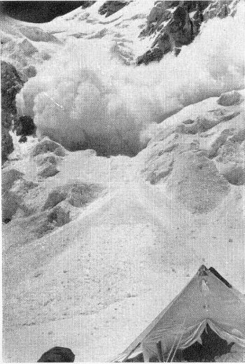 Avalanches in the Upper Sona glacier
