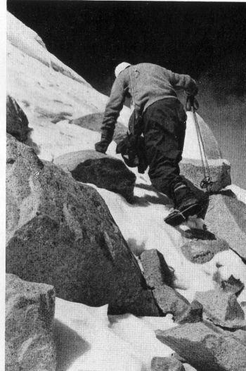 Arne Naess near the summit