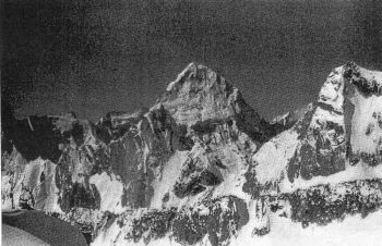 Nilkanta from Avalanche Peak. West ridge and Col on the right.  ( J.A. Jacckson)