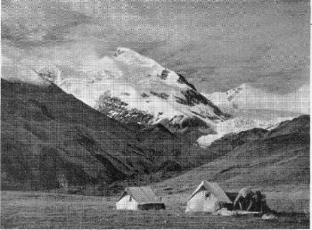 YULO KANG PEAK, 20,998 FT., IN THE DAMODAR HIMAL. CLIMBED ON AUGUST 29TH, 1955. ROUTE FOLLOWS SKYLINE (SOUTH-WES ) RIDGE.