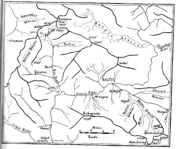 FIG. 1. SKETCH MAP OF NAGIR AND SURROUNDING COUNTRY.