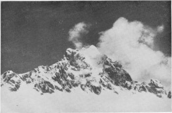 Indrasan, 20,410 ft., from 18,000 ft. Plateau due S.E. of Dei tibba.