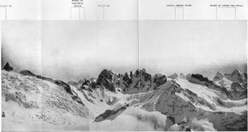 View North-East from c. 17,500 ft. ('consolation peak') situated on rock island in Malana Neve south of peak 17,511 ft.
