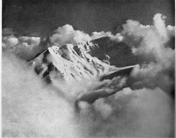 From a survey station on an easterly spur of the Patrasi Himal, Earle and Burnet mapped the Jagdula lekh and planned a route on Mata Thumba, in the centre of this picture. (John Earle)