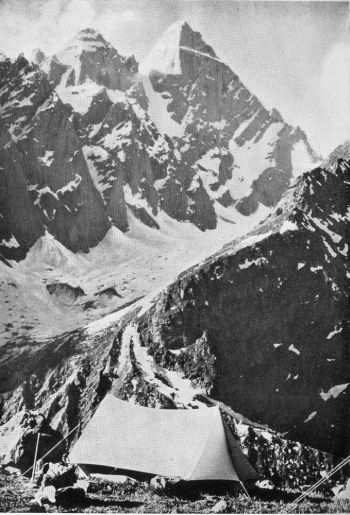 Indrasan from 16,000-foot col, looking north west