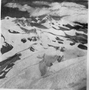 VIEW NORTHWARD FROM THE SUMMIT OF EVEREST TAKEN BY SIR EDMUND HILLARY IN 1953