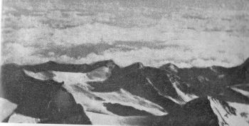 LOOKING NORTH FROM 8,700 M. ON EVEREST. CHINESE EVEREST EXPEDITION PHOTOGRAPH