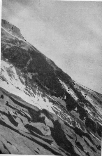 NORTHERN SLOPES OF EVEREST FROM C. 8,000 M. TAKEN IN 1933 BY L.R. WAGER