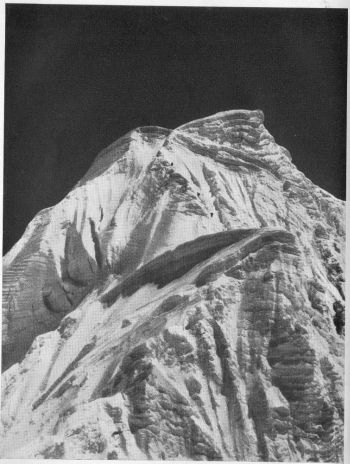 A Telephoto close-up of the arete