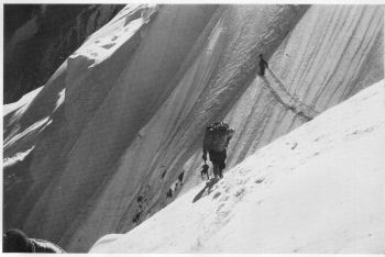 Traverse on N. face between camps II and III
