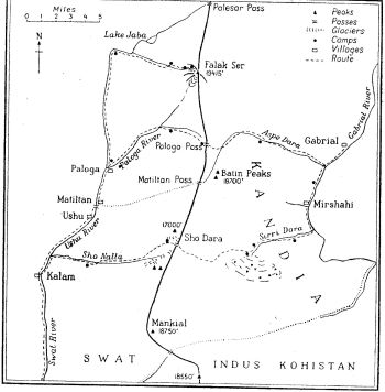 Map of swat and Indus Kohistan