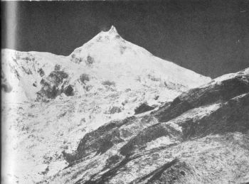 Manaslu from B.C. of the J.A.C. route.