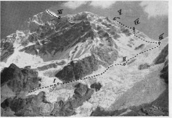 Makalu, showing the Spanish route.