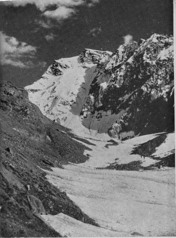 The north face of Zange Khord, from the Karai glacier.