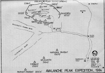 AVALANCHE PEAK EXPEDITION,  1984
