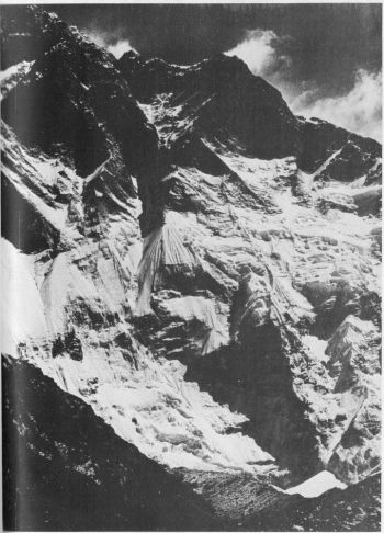 Lhotse Shar. The south face climbed by Czech expedition in 1984. 										(Photo: L Novak)