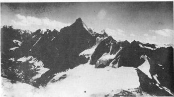 'Urgus Phabrang' , north of Urgus pass. View from Camp 2 on Menthosa.
