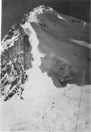 Frontispiece: Zhangzi (7580 m)- Looking up south ridge. 		(F. Nugent)