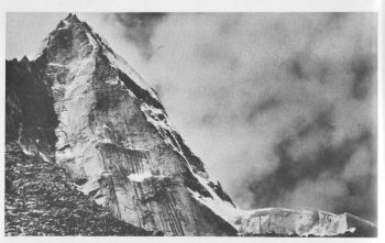 Southeast face of Purbi Dunagiri (6489 m). Article 9										( Sanjib Paul )
