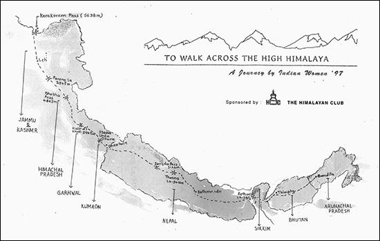 To walk across the high Himalaya