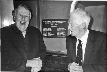 Lord John Hunt (right) with Sir Edmund Hillary. (George Band)