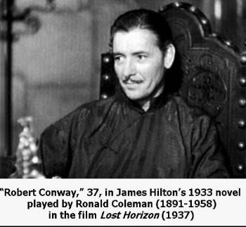 Ronald Coleman acting as 'Robert Conway' in the film.